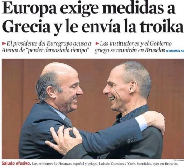 Fuente: Portada del diario La Vanguardia del 10/03/2015