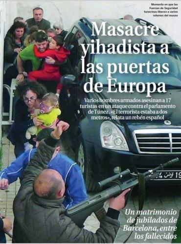 Fuente: Portada de La Razón del 19/03/2015.
