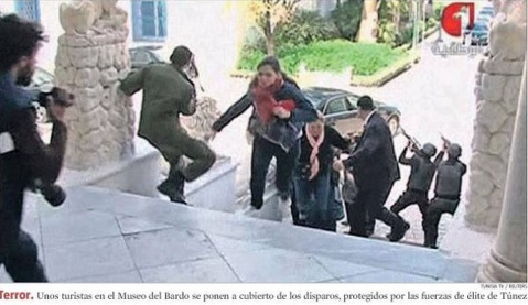 Fuente: Portada de  La Vanguardia del 19/03/2015.