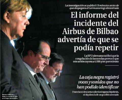 Fuente: Portada de La Razón del 26/03.