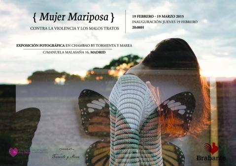 Cartel de la exposición Mujer Mariposa